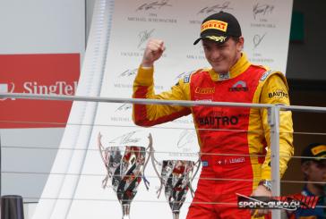 GP2 –  Singapour – double podium pour Fabio Leimer