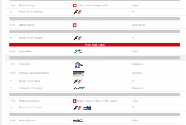 Pour ne rien manquer de la saison, Sport-Auto.ch vous propose son Calendrier 2015