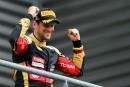 F1 – Romain Grosjean sur le podium du GP de Belgique – Victoire de Lewis Hamilton