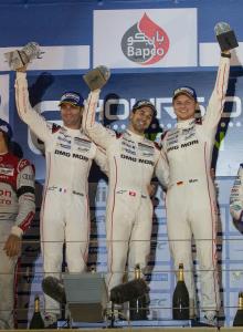 Romain Dumas (FR), Neel Jani (CH) and Marc Lieb (DE) vainqueurs des 6 Heures de Bahreïn