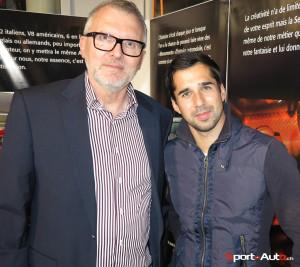 Francis Angéloz, président du Club Porsche 3 Lacs et Neel Jani