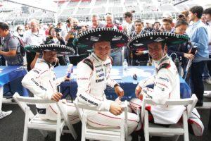Porsche Team: Neel Jani, Marc Lieb, Romain Dumas (l-r)