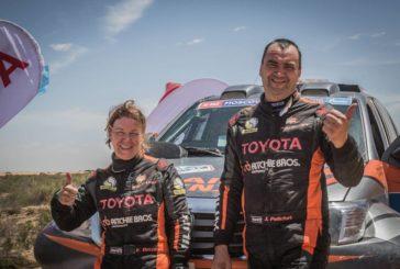 Eugénie Decré au départ du Rallye OiLibya du Maroc