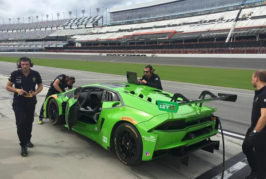 Grasser Racing Team with two cars at the 24 hours of  Daytona