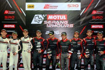 Patrick Pilet sur le podium des 12h de Sepang, Laurens Vanthoor remporte l'Intercontinental GT Challenge