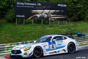 Edoardo Mortara avec le Mercedes-AMG Team HTP Motorsport lors des 24h du Nürburgring