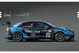 Stefano Comini at the wheel of an Audi RS 3 LMS by Comtoyou Racing in the TCR International Series