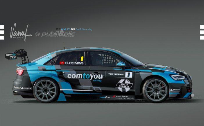 Stefano Comini avec une Audi RS 3 LMS du Comtoyou Racing en TCR International