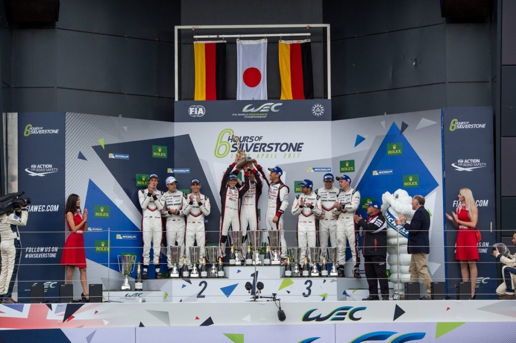 LMP1 Podium at the FIA WEC 6 Hours of Silverstone - Silverstone Circuit - Towcester - United Kingdom