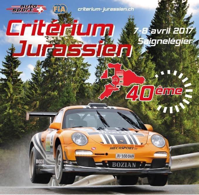 Criterium Jurassien 2017 - affiche - Marc Valliccioni - Porsche 997 GT3