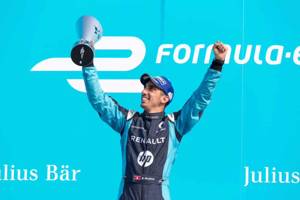 BUEMI Sebastien (che) Formula E team Renault E.DAMS ambiance portrait podium race 2 during the 2017 Formula E championship, at Berlin, Germany, from june 9 to 11 - Photo Clement Luck / DPPI