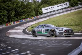 Test races Mercedes-AMG GT4: The Mercedes-AMG GT4 to race at the Nürburgring-Nordschleife for the first time