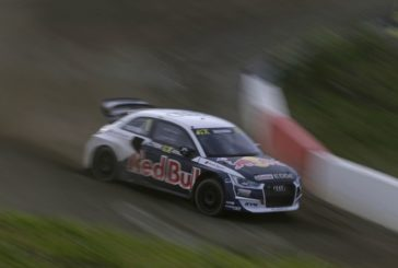 Four Audi S1 EKS RX quattro in FIA World Rallycross Championship