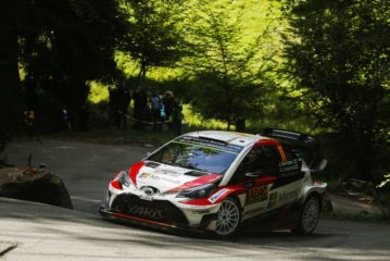 WRC –  Yaris WRC drivers experience the highs and lows of Baumholder