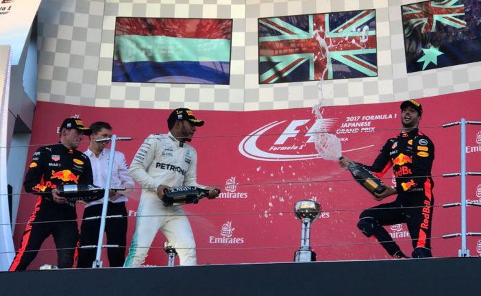 F1 – GP du Japon: Lewis Hamilton s'impose et entrevoit le titre. Grosjean marque deux points