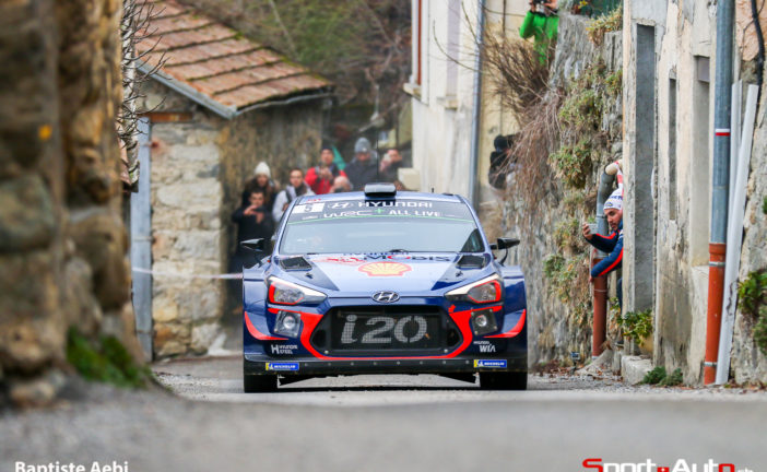 Hyundai Motorsport bei der Rallye Monte Carlo in den Punkterängen