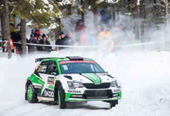 Škoda Motorsport's Tidemand and Veiby both on podium after thrilling battle
