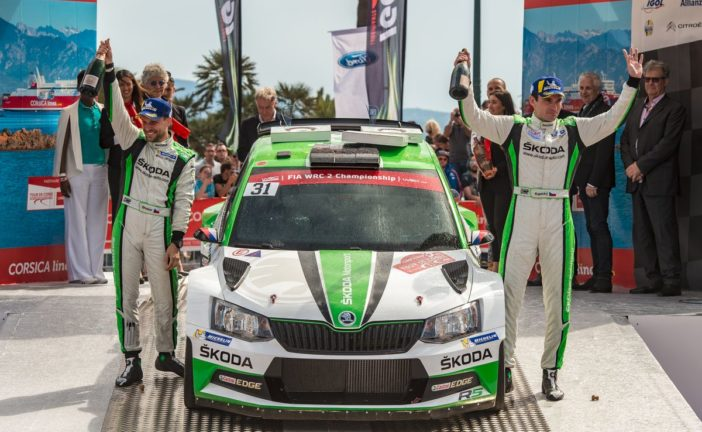 Jan Kopecký and Škoda with dominant WRC 2 win at Rally France Tour de Corse
