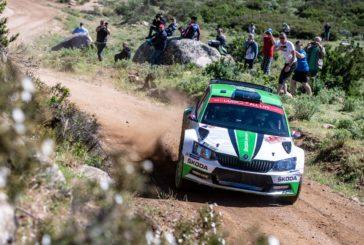 Škoda's Jan Kopecký leads WRC 2, teammate O.C. Veiby storms into third place
