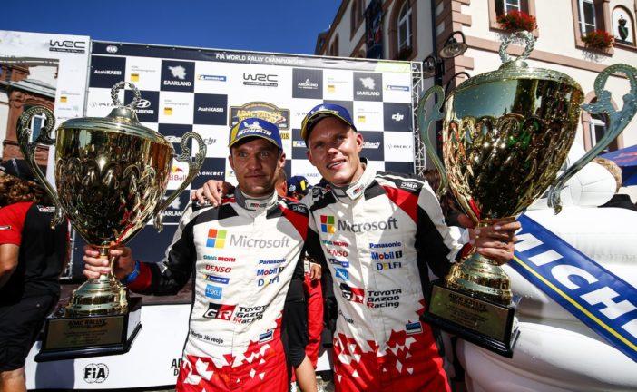 Tänak and Toyota Gazoo Racing celebrate back-to-back wins in Germany