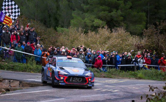 WRC – Hyundai bei Rallye Spanien auf den Plätzen vier und fünf