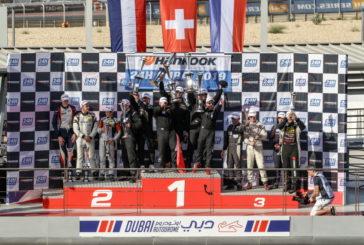 Rolf et Mark Ineichen au pied du podium des 24H Dubai 2019, victoire Suisse en TCE