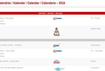 Le calendrier sportif 2019 de Sport-Auto.ch est en ligne