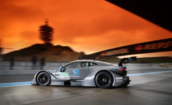 Erster Testtag von R-Motorsport mit dem neuen Aston Martin Vantage DTM